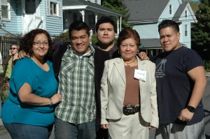 Irma Mejia and family
