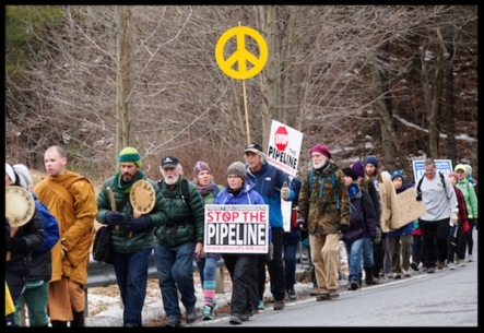 MLK pipeline march